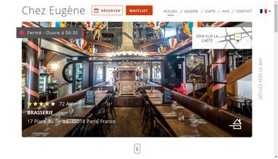 Site internet de Chez Eugene