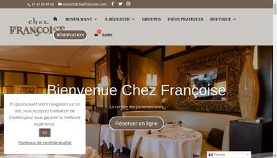Site internet de Chez Francoise