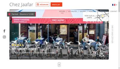 Site internet de Chez Jaafar