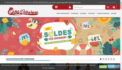 Site internet de Chibi Akihabara