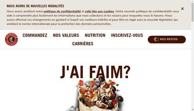 Site internet de Chipotle Mexican Grill France SAS