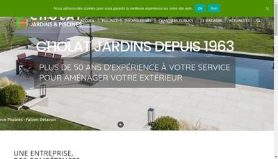 Site internet de Cholat Jardins