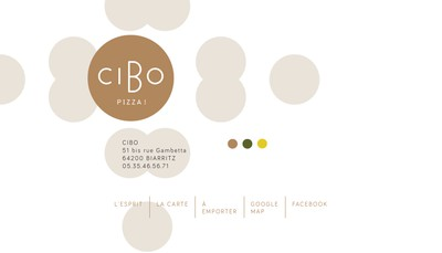 Site internet de Cibo