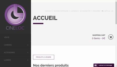 Site internet de Cine Loc