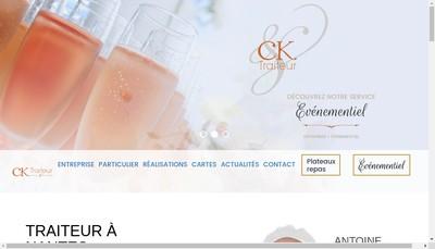Site internet de Ck Traiteur