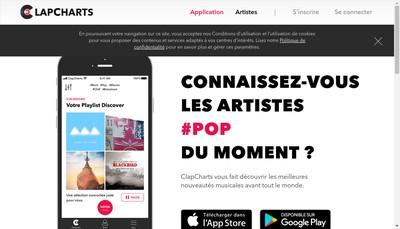 Site internet de Clapcharts