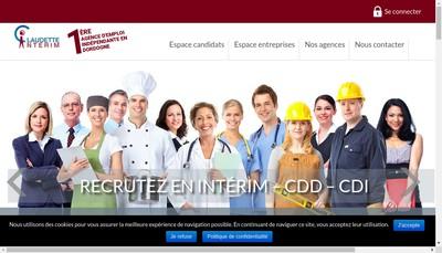 Site internet de Claudette Interim Saint Astier
