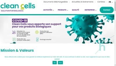 Site internet de Clean Cells