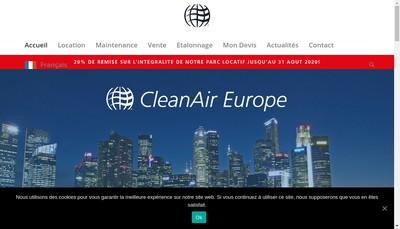 Site internet de Cleanair Europe