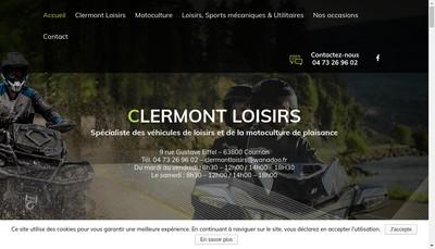 Site internet de Clermont Loisirs