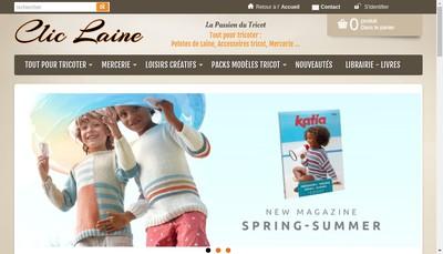 Site internet de Clic Laine