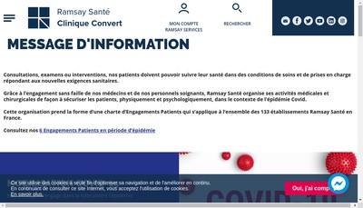 Site internet de Clinique Convert