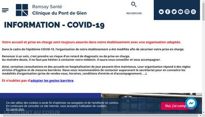 Site internet de Clinique du Pont de Gien