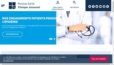 Site internet de Clinique Jouvenet