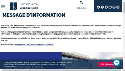Site internet de Clinique Rech