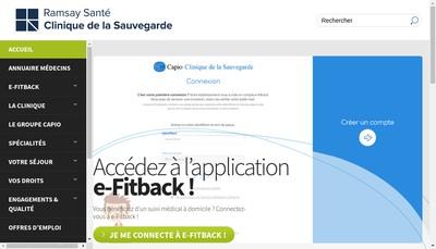 Site internet de Clinique de la Sauvegarde