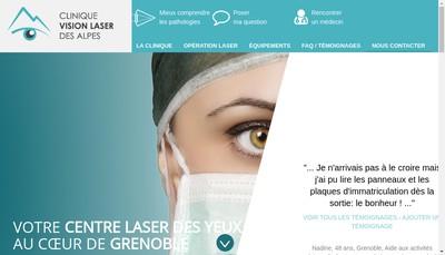 Site internet de Clinique Vision Laser des Alpes