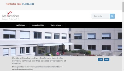 Site internet de Clinique les Fontaines