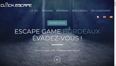 Site internet de Clock Escape
