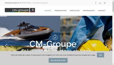 Site internet de Cm Groupe