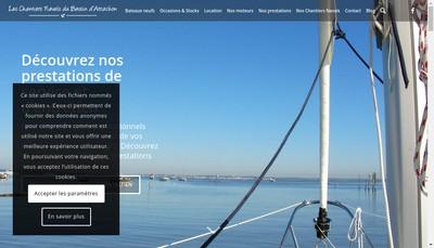Site internet de Arcachon Nautic