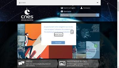 Site internet de Centre National d'Etudes Spatiales