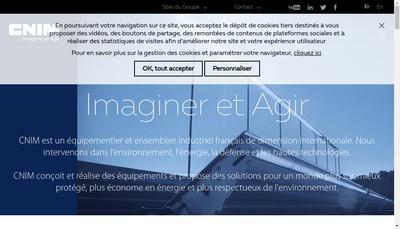 Site internet de Cnim Terre Atlantique