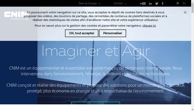 Site internet de Cnim Paris Batignolles