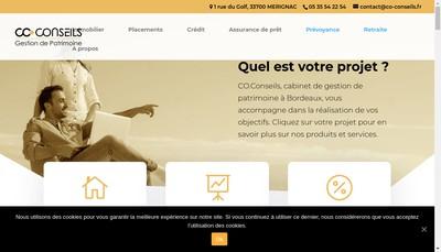 Site internet de Co Conseils