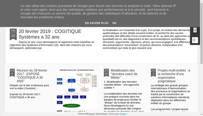 Site internet de Cogitique Systemes