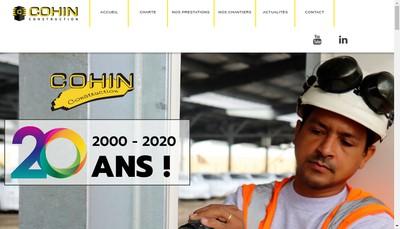 Site internet de Cohin Construction
