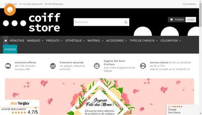 Site internet de Coiffstore