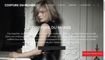 Site internet de Coiffure du Monde