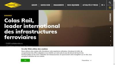 Site internet de Colas Rail Industries