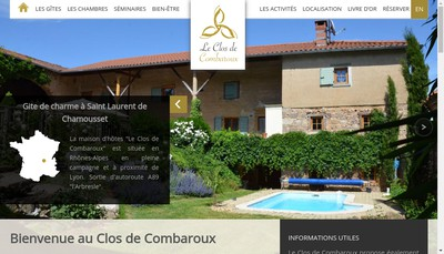 Site internet de Le Clos de Combaroux