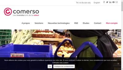 Site internet de Comerso