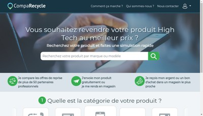 Site internet de Comparecycle SAS