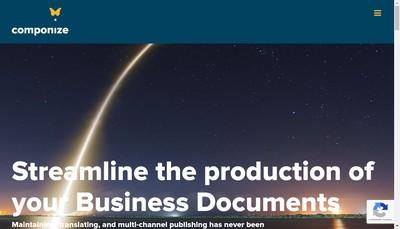 Site internet de Componize Software