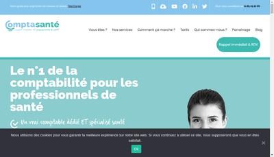 Site internet de Compta Sante