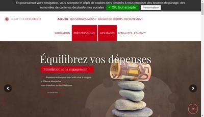 Site internet de Le Comptoir des Credits