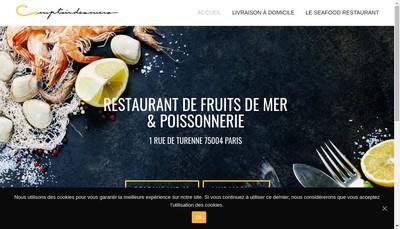 Site internet de Comptoir des Mers