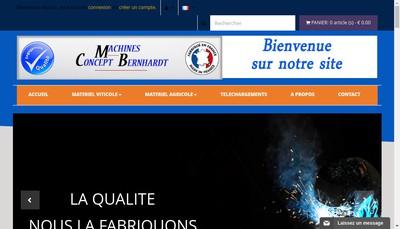 Site internet de Concept Machines Bernhardt