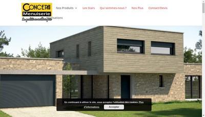 Site internet de Concept Menuiserie