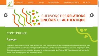Site internet de Concertience