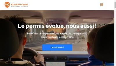 Site internet de Conduite Center (CC)