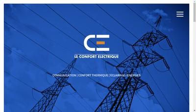 Site internet de Le Confort Electrique