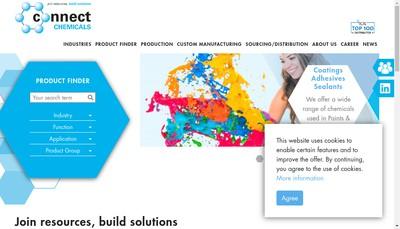 Site internet de Connect Chemicals France