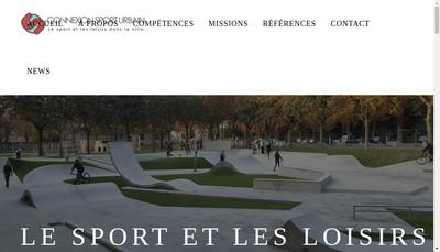 Site internet de Connexion Sport Urbain