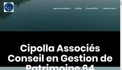 Site internet de Cipolla Associes Conseils en Patrimoine 64