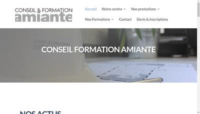 Site internet de Conseil et Formation Amiante Lyon